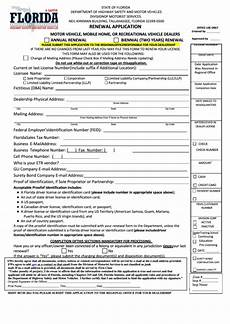 fillable renewal application motor vehicle mobile home or recreational vehicle dealers
