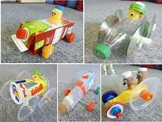 Recycling Basteln Mit Kindern - selbst gebastelte autos aus abfall basteln autos und kinder