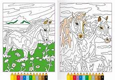 malvorlagen malen nach zahlen pferde x13 ein bild zeichnen