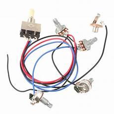 wiring harness 3 way toggle switch 2v2t 500k pots jack les paul lp guitar sg ebay