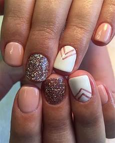 chevron 22 easy fall nail designs for short nails