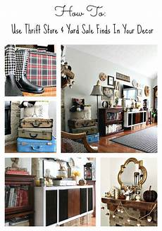 trashtastic tuesday how to use thrift store yard sale finds in your home decor lots of great