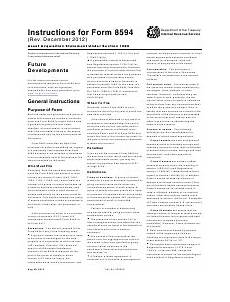 instructions for form 8594 asset acquisition statement section 1060 download printable