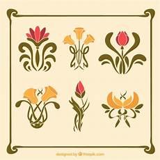 fiori liberty confezione di fiori in stile liberty scaricare vettori