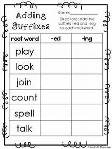 10 adding suffixes printable worksheets in pdf file kdg 2nd grade ela