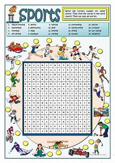 sports wordsearch english esl worksheets for distance learning and physical classrooms