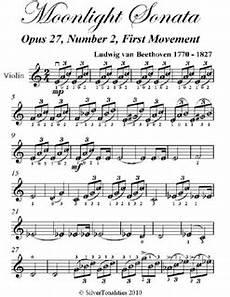 moonlight sonata 1st mvt easy violin sheet music pdf by ludwig van beethoven ebook lulu
