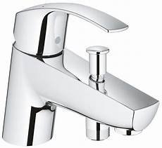 grohe eurosmart single lever bath shower mixer tap chrome
