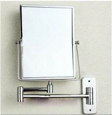 modern square wall mounted chrome bathroom double side magnifying makeup mirror