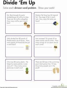 division word problems divide em up math division