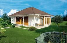 Kleiner Bungalow Fertighaus - elk bungalow 113 musterhaus in der hausausstellung erfurt