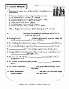 15 best images of subject pronouns worksheet 4th grade possessive pronouns worksheets 3rd