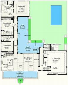net zero ready house plan with l shaped lanai 33161zr