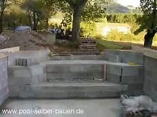 pool selbst mauern schwimmbad poolbau teil 4