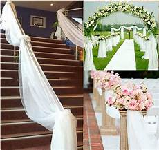 wedding decoration ideas with fabric hot 5m 10m top table chair swags sheer organza fabric
