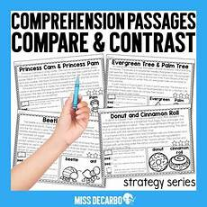 compare and contrast reading passages by miss decarbo tpt