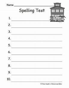 blank spelling worksheets for grade 1 22688 fern smith s free school themed blank spelling tests