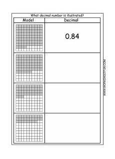 learning decimals worksheets 7201 decimal model hundredths 4 worksheets free worksheets for grades pk 8th includes