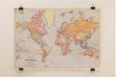 hang a map with binder for the home pinterest
