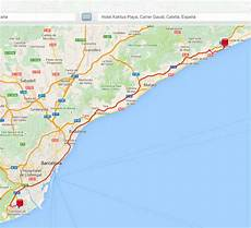 how to get from calella to barcelona by car or
