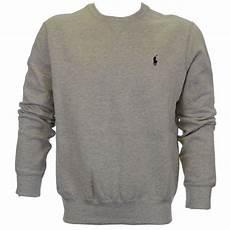 polo ralph crew neck sweatshirt grey polo ralph