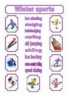 winter sports worksheets 15893 worksheet winter sports matching