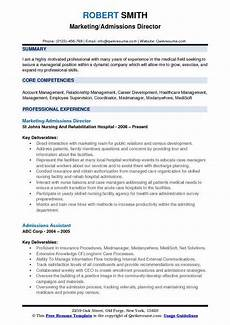 admissions director resume sles qwikresume