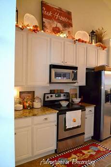 Home Decor Ideas Kitchen Cabinets by Adventures In Decorating Our Fall Kitchen