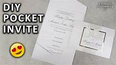 diy pocketfold invitation with printable pocket template wedding invitations youtube