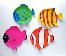 Fische Basteln Mit Kindern Papier Fische In Bunten Farben Idee F 252 R Sommer Basteln