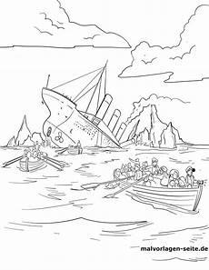 malvorlage titanic geschichte kostenlose ausmalbilder