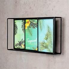 bilderrahmen 3d schwarz metall 3 fotos 10x15cm fotorahmen
