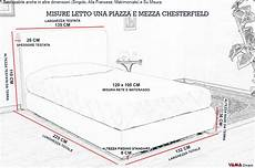 misure letto una piazza e mezzo letto chesterfield una piazza e mezzo senza capitonn 233