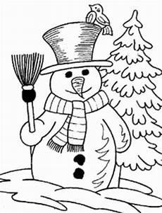 Malvorlagen Schneemann Comic Schneemann Mit Besen 4 Ausmalbild Malvorlage Winterbilder