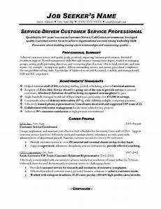 customer service representative resume summary of
