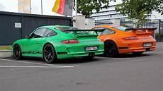 2x Porsche 997 Gt3 Rs Green Or Orange