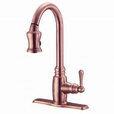 copper kitchen faucet shop danze opulence antique copper pull kitchen faucet at lowes