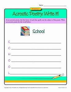 writing poetry worksheets middle school 25325 acrostic poetry write it writing prompts for kindergarten writing prompts writing