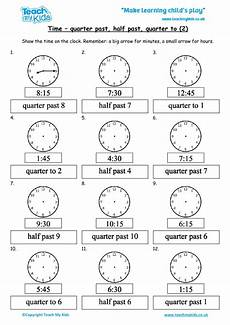 time worksheets o clock half past quarter past quarter to 3123 time quarter past half past quarter to 2 tmk education
