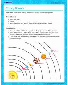 yummy planets free solar science activities jumpstart