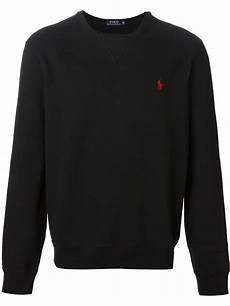 polo ralph classic sweatshirt in black for lyst