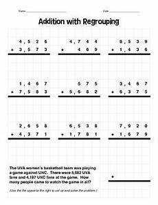 subtraction with regrouping worksheets 10670 4 digit addition with regrouping by beth tice teachers pay teachers