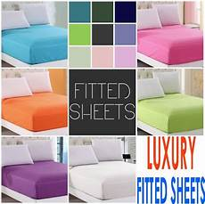 luxury 16 inches 40cm extra deep fitted percale single double king bed sheet ebay