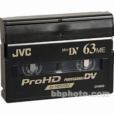 hdv cassette jvc m dv63prohd prohd hdv cassette 63 minutes mdv63prohd b h