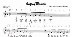 Partitur Lagu Lagu Lagu Anging Mamiri Sulawesi Selatan