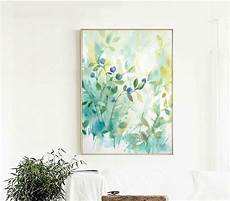 small fresh watercolor style simple decorative paintings canvas paintings decoration for wall