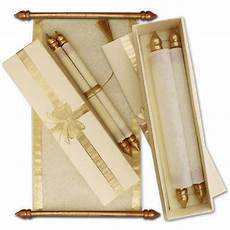 Scroll Type Wedding Invitation Cards