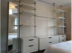 IKEA bedroom storage units inc drawers, shelves, clothes