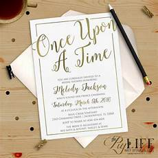 once upon a time bridal shower invitation printable diy no