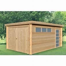 garage bois en kit garage bois norwich 2 toit plat 14 33 m 178 pas cher 224